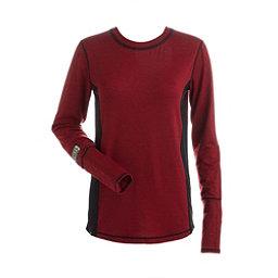 NILS Sally Womens Long Underwear Top, Red-Black-Black, 256