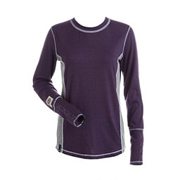 NILS Sally Womens Long Underwear Top, Nightshade-Silver-White, 256