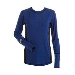 NILS Sally Womens Long Underwear Top, Blue Blaze-Black-Black, 256
