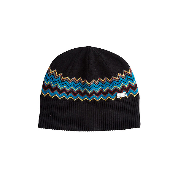 NILS Asi Beanie Womens Hat, Black-Dark Teal-Cornsilk-Pewte, 600