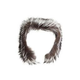NILS Real Fur Hood Attachment, Silver Fox, 256