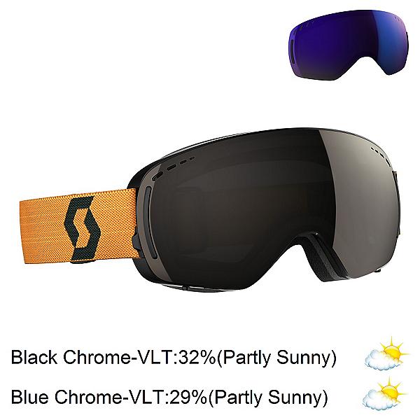 Scott LCG Compact Goggles, Black-Mustard Yellow-Solar Bla + Bonus Lens, 600