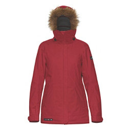 Dakine Lowell w/Faux Fur Womens Insulated Ski Jacket, Scarlet, 256