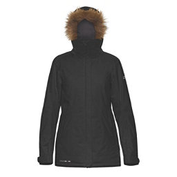 Dakine Lowell w/Faux Fur Womens Insulated Ski Jacket, Black, 256