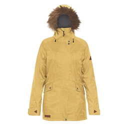 Dakine Brentwood w/Faux Fur Womens Insulated Ski Jacket, Curry, 256