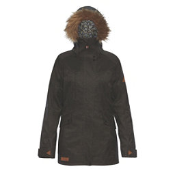 Dakine Brentwood w/Faux Fur Womens Insulated Ski Jacket, Grey Suiting, 256