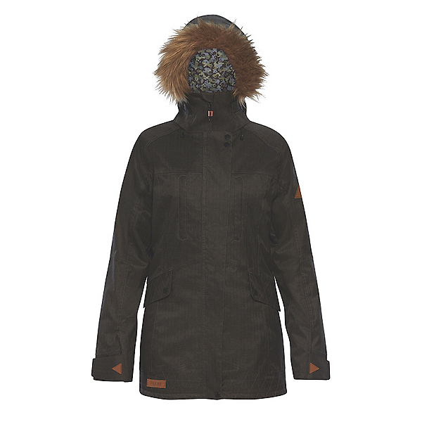 Dakine Brentwood w/Faux Fur Womens Insulated Ski Jacket, Grey Suiting, 600