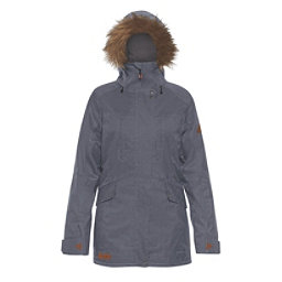 Dakine Brentwood w/Faux Fur Womens Insulated Ski Jacket, Midnight, 256
