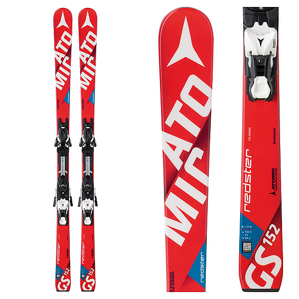Atomic Redster FIS GS Jr. Junior Race Skis with XTO 12 Bindings, , 600