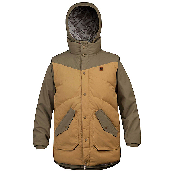 Orage B-Dog Mens Insulated Ski Jacket, Moss, 600