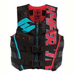 Hyperlite Youth Indy Neo Junior Life Vest 2018, Black-Red-Flash, 256