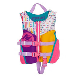Hyperlite Child Indy Neo Girls Toddler Life Vest 2018, Pink-Blue-Purple, 256