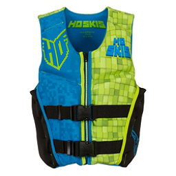 HO Sports Youth Pursuit Neo Boys Junior Life Vest, Black-Green-Blue, 256