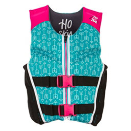 HO Sports Youth Pursuit Neo Girls Junior Life Vest 2017, Teal-Pink-Black, 256