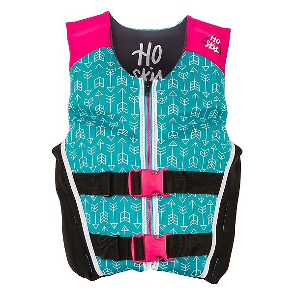 HO Sports Youth Pursuit Neo Girls Junior Life Vest 2017, Teal-Pink-Black, 600