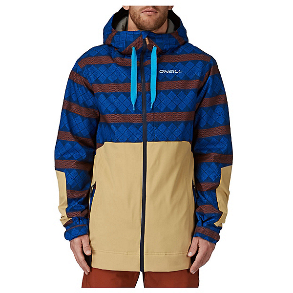O'Neill David Wise Mens Insulated Snowboard Jacket, Blue Aop, 600