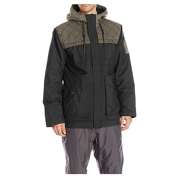 O'Neill Utility Mens Insulated Snowboard Jacket, Black-Grey, 600