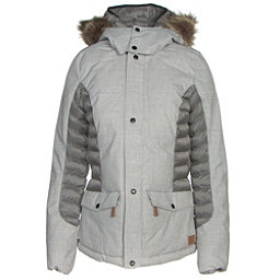 O'Neill Feline Womens Insulated Snowboard Jacket, Silver Melee, 256