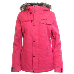 O'Neill Crystaline w/Faux Fur Womens Insulated Snowboard Jacket, Virtual Pink, 256