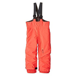 O'Neill Park Bib Toddler Girls Ski Pants, Neon Tangerine, 256