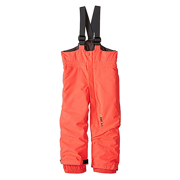 O'Neill Park Bib Toddler Girls Ski Pants, Neon Tangerine, 600