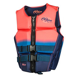 O'Brien Flex V-Back Neoprene Womens Life Vest 2017, Coral, 256