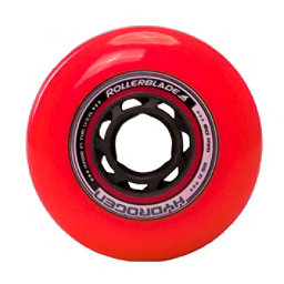 Rollerblade Hydrogen Urban 80mm 85A Inline Skate Wheels - 8 Pack 2018, Red, 256