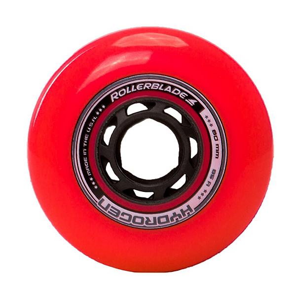 Rollerblade Hydrogen Urban 80mm 85A Inline Skate Wheels - 8 Pack 2018, Red, 600