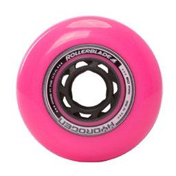 Rollerblade Hydrogen Urban 80mm 85A Inline Skate Wheels - 8 Pack 2017, Pink, 256