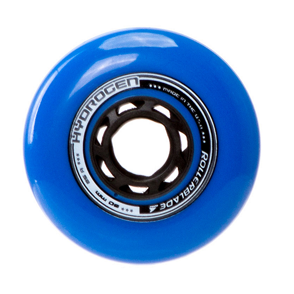 Rollerblade Hydrogen Urban 80mm 85A Inline Skate Wheels - 8 Pack 2017, Blue, 600