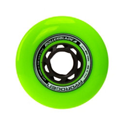 Rollerblade Hydrogen Urban 80mm 85A Inline Skate Wheels - 8 Pack 2017, Green, 256