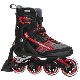 Rollerblade Macroblade 84 ABT Inline Skates 2018, Black-Red, 256