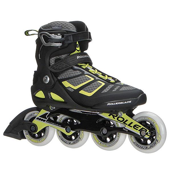 Rollerblade Macroblade 90 ALU Inline Skates 2018, Black-Lime, 600