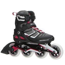 Rollerblade Macroblade 90 ALU Womens Inline Skates 2018, Black-Cherry, 256
