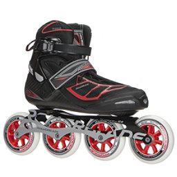 Rollerblade Tempest 100 C Inline Skates 2017, Black-Red, 256
