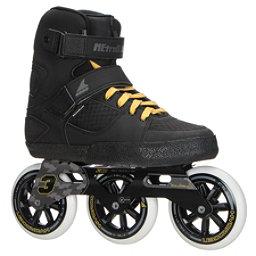 Rollerblade Metroblade 3WD Urban Inline Skates 2017, Black-Yellow, 256