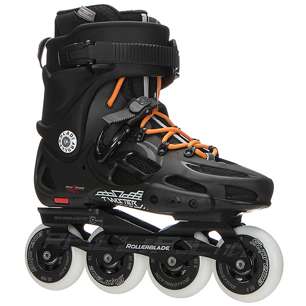 Rollerblade Twister 80 Urban Inline Skates, Black-Orange, 600
