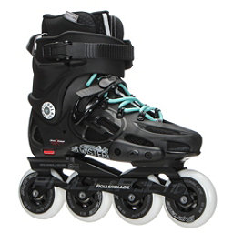 Rollerblade Twister 80 Womens Urban Inline Skates, Black-Light Blue, 256