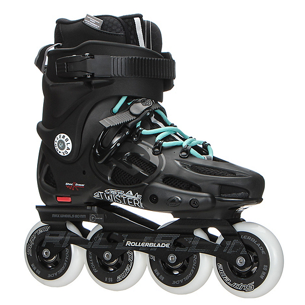 Rollerblade Twister 80 Womens Urban Inline Skates, Black-Light Blue, 600