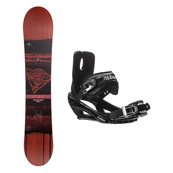 Sims Switch Fakie Stealth 3 Snowboard and Binding Package, , 600