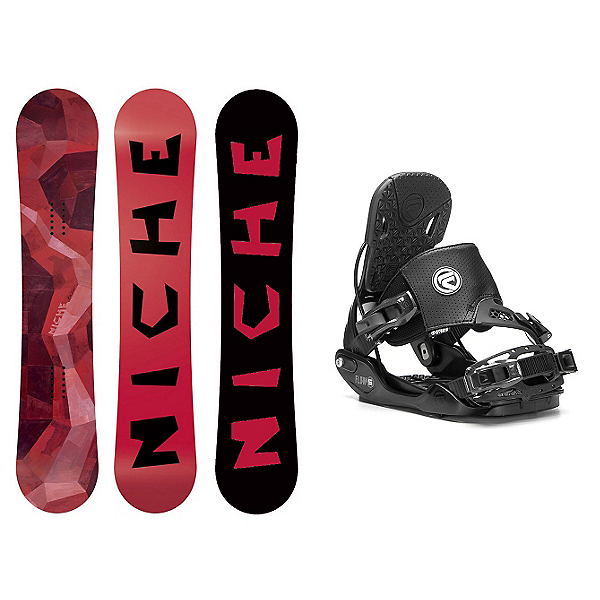 Niche Knew Five Hybrid Snowboard and Binding Package, , 600