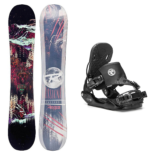Rossignol Angus MagTek Five Hybrid Snowboard and Binding Package, , 600