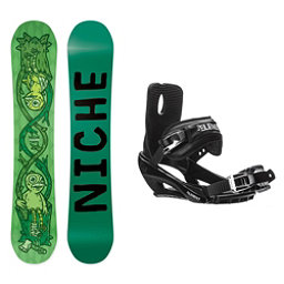 Niche Theme Stealth 3 Snowboard and Binding Package, , 256