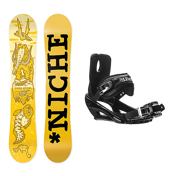 Niche Aether Stealth 3 Snowboard and Binding Package, , 600