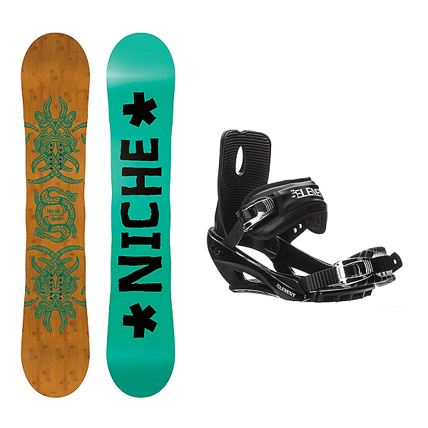 Niche Story Camber Stealth 3 Snowboard and Binding Package, , 600