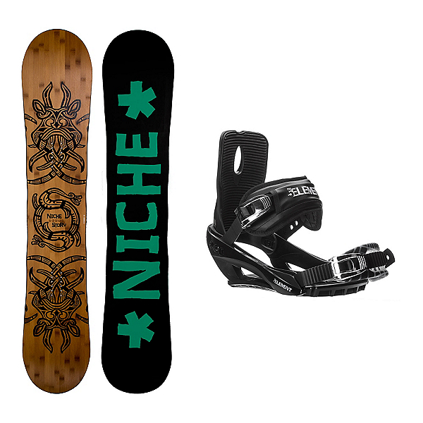 Niche Story 2.0 Stealth 3 Snowboard and Binding Package, , 600