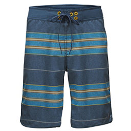 The North Face Whitecap 10 Inch Mens Board Shorts (Previous Season), Shady Blue Chambray Stripe, 256