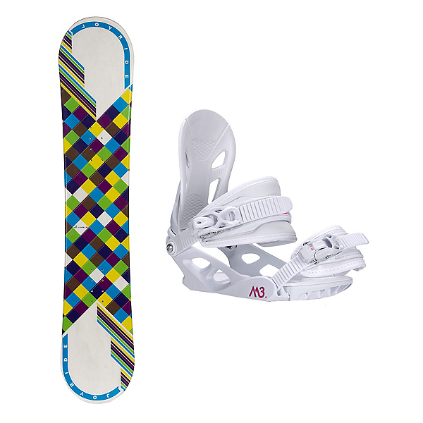 Joyride Checkers White Blue Solstice 4 Womens Snowboard and Binding Package, , 600