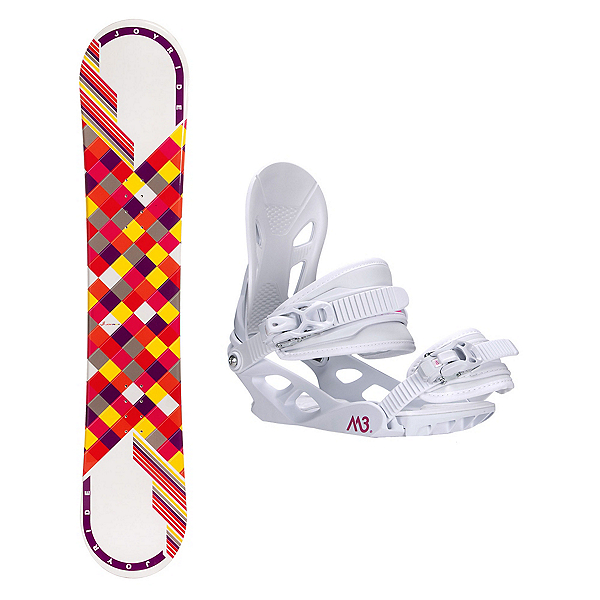 Joyride Checkers White Pink Solstice 4 Womens Snowboard and Binding Package, , 600
