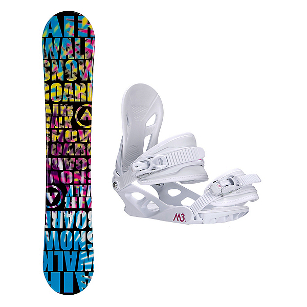 Airwalk Laser Blue Solstice 4 Womens Snowboard and Binding Package, , 600